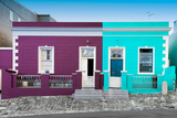 Awesome South Africa Collection - Colorful Houses Violet & Turquoise Photographic Print by Philippe Hugonnard