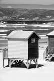 Awesome South Africa Collection B&W - Beach Huts Cape Town II Photographic Print by Philippe Hugonnard