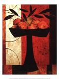 Fruit on Silk Prints by Constance Bachmann