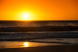 Awesome South Africa Collection - Sunset Blazing Sun over the Ocean Photographic Print by Philippe Hugonnard