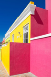 """Awesome South Africa Collection - Colorful Houses """"Ninety-One"""" Yellow & Deep Pink Photographic Print by Philippe Hugonnard"""
