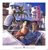 Cruising in Miami Posters by Didier Lourenco