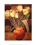 Checkered Tulips I Prints by Linda Thompson