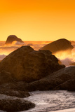 Awesome South Africa Collection - Sunset on Sea Stacks I Photographic Print by Philippe Hugonnard