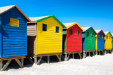 Awesome South Africa Collection - Colorful Beach Huts on Muizenberg II Photographic Print by Philippe Hugonnard