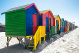 Awesome South Africa Collection - Colorful Beach Huts on Muizenberg V Photographic Print by Philippe Hugonnard