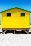 Awesome South Africa Collection - Colorful Beach Hut - Yellow & Skyblue Photographic Print by Philippe Hugonnard