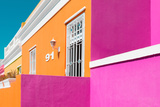 """Awesome South Africa Collection - Colorful Houses """"Ninety-One"""" Orange & Pink Photographic Print by Philippe Hugonnard"""
