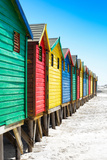 Awesome South Africa Collection - Colorful Beach Huts on Muizenberg - Cape Town IX Photographic Print by Philippe Hugonnard