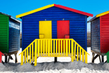 "Awesome South Africa Collection - Colorful Houses ""Thirty One & Thirty Two"" Blue Photographic Print by Philippe Hugonnard"