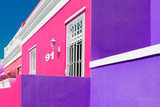 """Awesome South Africa Collection - Colorful Houses """"Ninety-One"""" Pink & Violet Photographic Print by Philippe Hugonnard"""