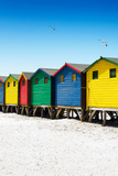 Awesome South Africa Collection - Colorful Beach Huts on Muizenberg - Cape Town VII Photographic Print by Philippe Hugonnard