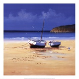 Moorings Low Tide Prints by David Short