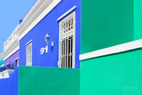 "Awesome South Africa Collection - Colorful Houses ""Ninety-One"" Blue & Green Photographic Print by Philippe Hugonnard"