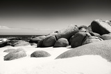 Awesome South Africa Collection B&W - Boulders on the Beach Fotografie-Druck von Philippe Hugonnard