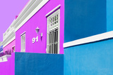 "Awesome South Africa Collection - Colorful Houses ""Ninety-One"" Mauve & Turquoise Photographic Print by Philippe Hugonnard"