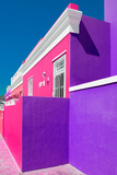 """Awesome South Africa Collection - Colorful Houses """"Ninety-One"""" Pink & Purple Photographic Print by Philippe Hugonnard"""