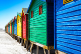 Awesome South Africa Collection - Colorful Beach Huts on Muizenberg - Cape Town VIII Photographic Print by Philippe Hugonnard