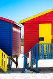 Awesome South Africa Collection - Colorful Houses - Yellow & Red Photographic Print by Philippe Hugonnard