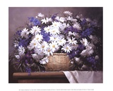 Daisies and Delphiniums Prints by Victor Santos
