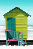 Awesome South Africa Collection - Colorful Beach Hut Cape Town - Lime & Greensea Photographic Print by Philippe Hugonnard