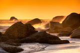 Awesome South Africa Collection - Sunset on Sea Stacks Photographic Print by Philippe Hugonnard