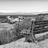 Awesome South Africa Collection Square - Lonely Bench B&W Photographic Print by Philippe Hugonnard