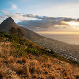 Awesome South Africa Collection Square - Cape Town at Sunset Photographic Print by Philippe Hugonnard