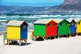 Awesome South Africa Collection - Row of Beach Houses on Beach Photographic Print by Philippe Hugonnard