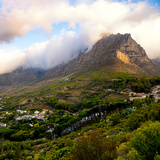 Awesome South Africa Collection Square - Table Mountain at Sunset Photographic Print by Philippe Hugonnard