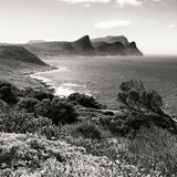Awesome South Africa Collection Square - South Peninsula Landscape - Cape Town B&W Lámina fotográfica por Philippe Hugonnard