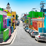Awesome South Africa Collection Square - Street in the Bo-Kaap of Cape Town II Photographic Print by Philippe Hugonnard