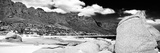 Awesome South Africa Collection Panoramic - Camps Bay B&W Photographic Print by Philippe Hugonnard