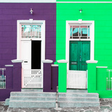 Awesome South Africa Collection Square - Colorful Houses Violet & Green Photographic Print by Philippe Hugonnard