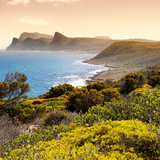Awesome South Africa Collection Square - South Peninsula Landscape at Sunset - Cape Town Photographic Print by Philippe Hugonnard