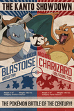 Pokemon- Kanto Showdown Blastoise vs. Charizoid Prints