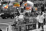 Safari CityPop Collection - NYC Hot Dog with Zebra Man III Photographic Print by Philippe Hugonnard