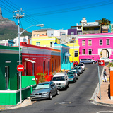 Awesome South Africa Collection Square - Colorful Houses - Bo-Kaap Cape Town I Photographic Print by Philippe Hugonnard