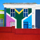 Awesome South Africa Collection Square - House African Colors - Cape Town Photographic Print by Philippe Hugonnard