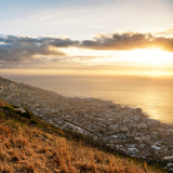 Awesome South Africa Collection Square - Cape Town at Sunset II Photographic Print by Philippe Hugonnard
