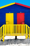 "Awesome South Africa Collection - Close-Up Colorful Houses ""Thirty One & Thirty Two"" Blue Photographic Print by Philippe Hugonnard"