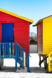 Awesome South Africa Collection - Colorful Houses - Red & Royal Blue Photographic Print by Philippe Hugonnard