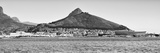 Awesome South Africa Collection Panoramic - Idyllic Moutain and sea Scenery - Cape Town B&W Photographic Print by Philippe Hugonnard