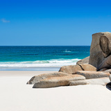 Awesome South Africa Collection Square - White Sandy Beach Fotografisk tryk af Philippe Hugonnard