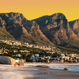 Awesome South Africa Collection Square - Camps Bay at Sunset II Photographic Print by Philippe Hugonnard