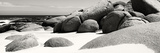 Awesome South Africa Collection Panoramic - Boulders on Beach B&W Photographic Print by Philippe Hugonnard