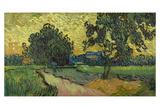 Landscape at Twilight, 1890 Poster by Vincent van Gogh