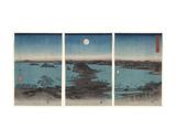 Kanazawa in Moonlight (Buyo Kanazawa HasshoYakei), 7th month, 1857 Prints by Ando Hiroshige