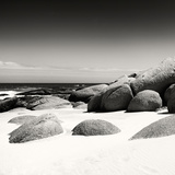 Awesome South Africa Collection Square - Boulders White Beach B&W Photographic Print by Philippe Hugonnard