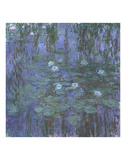 Blue Water Lilies, 1916-1919 Print by Claude Monet
